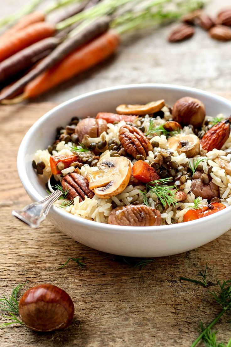 Vegan Fall Forest Salad - all the flavors of fall combined in a hearty, comforting salad.