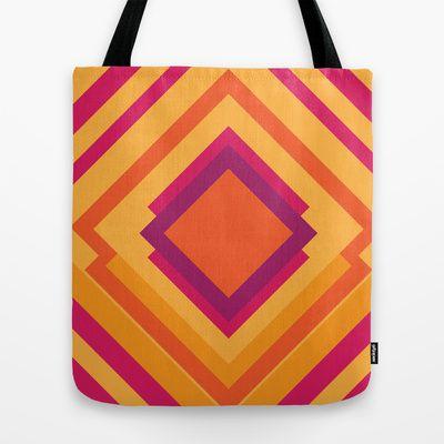 Diamond Dayze Tote Bag by clickybird - Belinda Gillies - $22.00