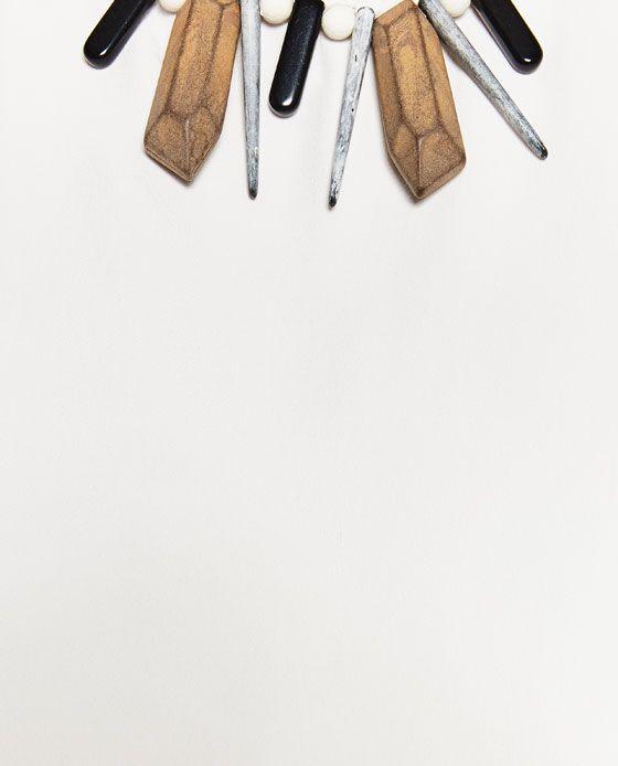 изображение 7 из ТОП С ОЖЕРЕЛЬЕМ В ЭТНИЧЕСКОМ СТИЛЕ от Zara
