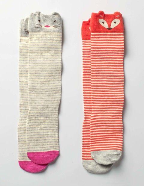 2 Pack Novelty Knee Socks (Woodland Friends)