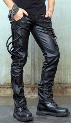 Mens Hazardous Materials Pants - Mens gothic, industrial and cyber pants.