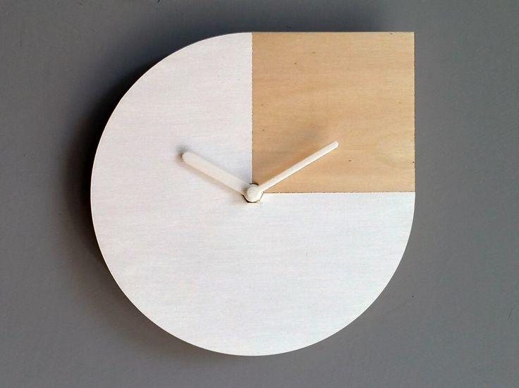 SALE Laser cut wood wall clock,Andy Warhol quote,white wood clock,white clock,white wall clock,silent clock,wall clocks,modern wall clock by LOHNhome on Etsy https://www.etsy.com/listing/286320363/sale-laser-cut-wood-wall-clockandy