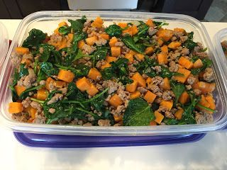 Mom as Rx: Sweet Potatoes, Spinach and Ground Turkey- Budget Breakfast Hash! #glutenfree #paleo #whole30
