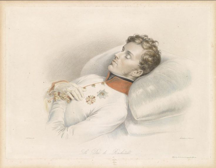 Napoleon's son, the Duke of Reichstadt (Napoleon II, the King of Rome) on his deathbed, engraved by Franz Xavier Stöber