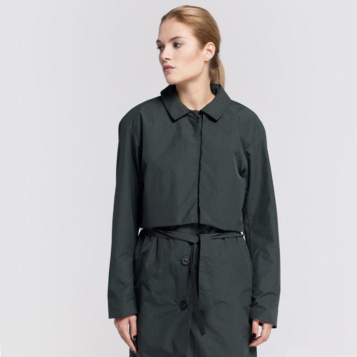 Miner Trench Coat Green Elementy #miner #trench #coat #cupro #green #rainproof #elementy #polishfashion #classic #minimal #simplicity #plaszcz #trencz #zielenbutelkowa #przeciwdeszczowy #polskamoda #minimalizm #aw16