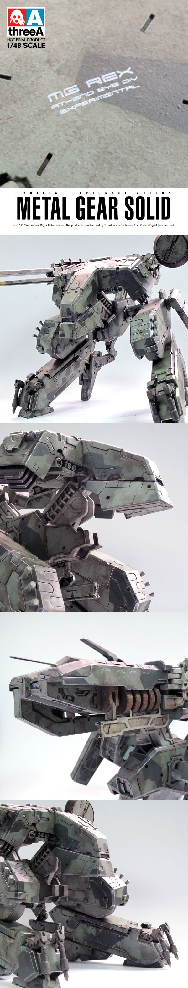 Meta Gear Rex 1/48 scale model from ThreeA ~ $400