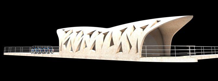 #Architectour Musel II 24: Schengen – Pontonboot Cet établissement innovant et flottant permettra la promotion de la région. Son grand espace couvert offrira un espace de communication très attractif.  Architectes: VALENTINY HVP ARCHITECTS SARL  Ingénieurs-Conseils: INCA, INGENIEURS CONSEILS ASSOCIES SARL Photographes: VALENTINY hvp architects