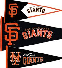 San Francisco and New York Giants pennants