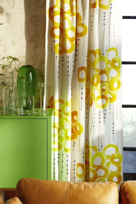 stockholm fabric white yellow   home