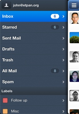 Sparrow: a cool mail client for iOS (only iPhone at the moment) but without Push notifications