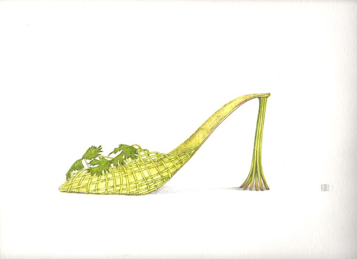 parsley shoe. By Sena Cifuentes