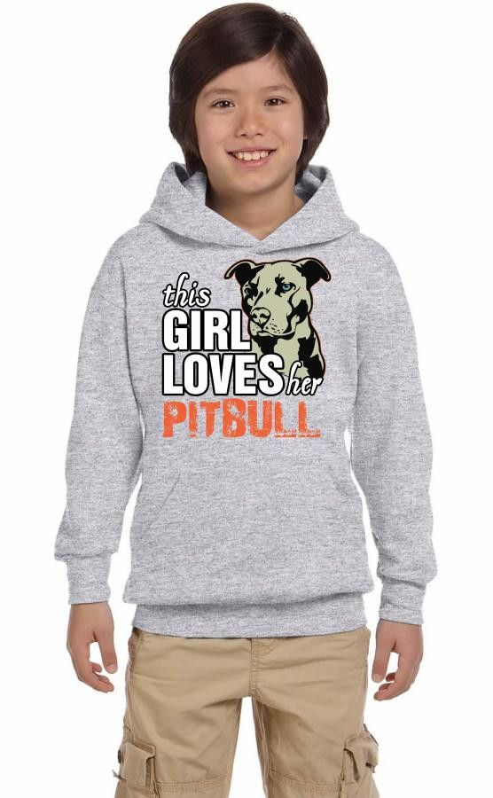 this girl loves her pitbull Youth Hoodie
