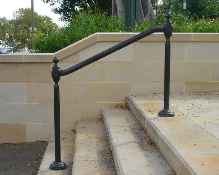 Wrought iron outdoor hand railings hollis park
