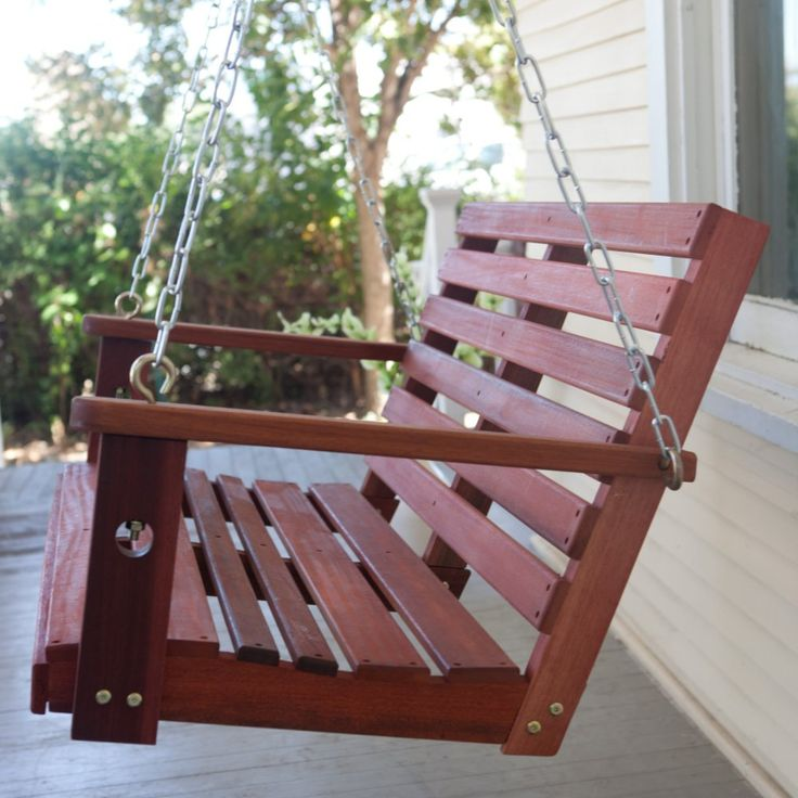 Belham Living Richmond Straight Back Porch Swing with Optional Swing Cushion - Porch Swings at Hayneedle