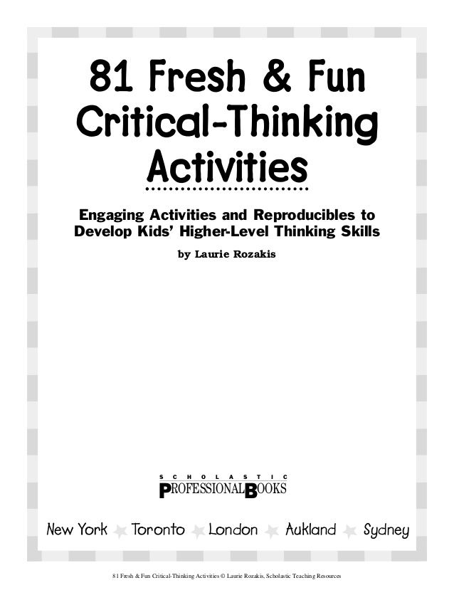 improve critical thinking exercises Can case studies be used to teach critical thinking  problem-solving exercises some au-  you want to improve someone's.