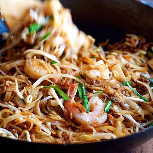 Shrimp/Prawn Pad Thai (Spice I Am Restaurant Recipe) Recipe - RecipeChart.com