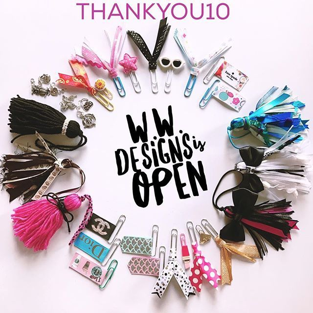 It's taken awhile but W.W. Designs Shop is now open! Lots of pretty things for your planner all made in Australia, including tassels, clips and charms! Use the coupon code THANKYOU10 for 10% off your first order. www.wonderfullywimen.com/shop