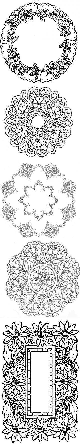 Необыкновенно красивое кружево - Ришелье (Декупаж+Хобби).. | вышивка | Постила