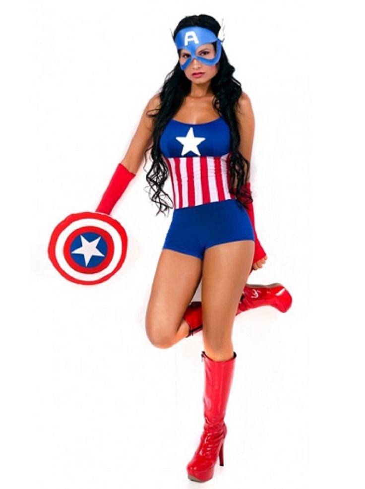 Resultado de imagen para disfraces de capitan america de mujer