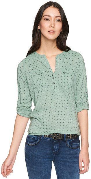 TOM TAILOR Bluse »tinka print blouse tunic«