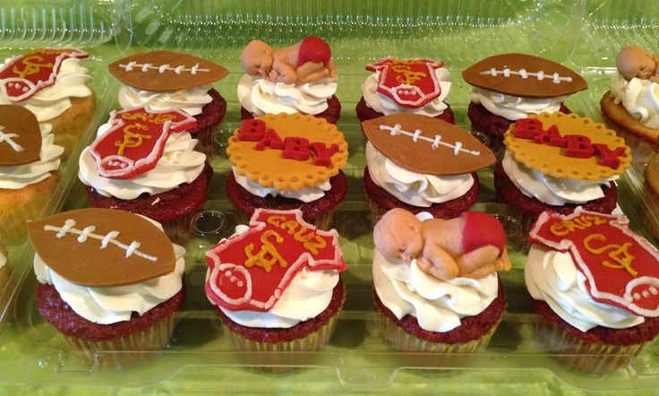 49ers baby shower cupcakes