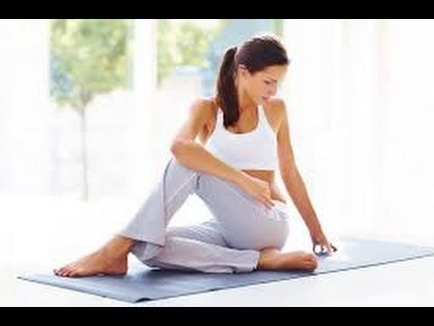 senam yoga untuk menurunkan berat badan - YouTube