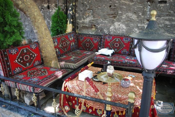An outdoor cafe in Istanbul. #CoxandKings