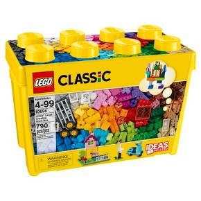 LEGO® Classic LEGO® Large Creative Brick Box 10698:<br>Create all kinds of buildings with LEGO® bricks, windows and doors! The LEGO® Classic Large Creative Brick Box inspires open-ended building play with lots of windows and doors for creating houses, shops and more. Build up a storm with this big box of classic LEGO® bricks in 33 different colors. With lots of different windows and doors, along with other special pieces to inspire you, you c...