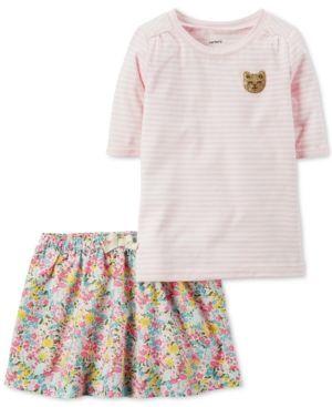 Carter's 2-Pc. Shirt & Skirt Set, Little Girls (2-6X) & Big Girls (7-16) - Stripe 6X