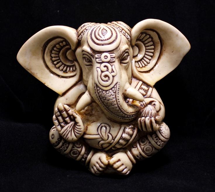 "(SKU No: lord ganesha resin statue_10) Hand Carved Meditating God Ganesha Resin Idol Sculpture Statue Size 5""x4""inches,for further information,please visit www.krishnamartindia.com"