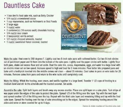 Dauntless Cake RecipeBook Club, Divergent,  Internet Site,  Website, Food, Web Site, Dauntless Cake, Birthday Cake, Cake Recipes