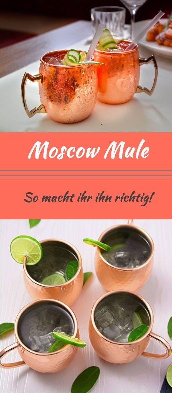 Moscow Mule, das Trendgetränk, hier erfahrt ihr wie ihr ihn wirklich machen solltet. Das perfekte Rezept mit dem ihr eure Freunde beeindruckt! Viel Spaß beim ausprobieren. Auch für Anfänger. Super einfaches Cocktail Rezept mit wenig Zutaten, ganz leicht Zuhause selbst gemacht für eure Party oder Geburtstagsfeier. Auch ideal für Silvester. #MoscowMule #Cocktail #Rezept #Silvester #Party #Getränk