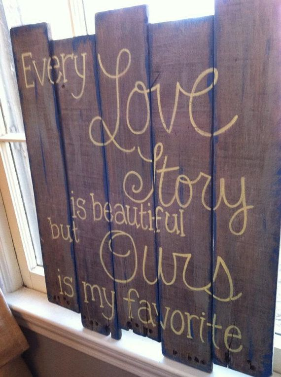 Pallet Art  Love by HollysHobbiesTN on Etsy, $45.00
