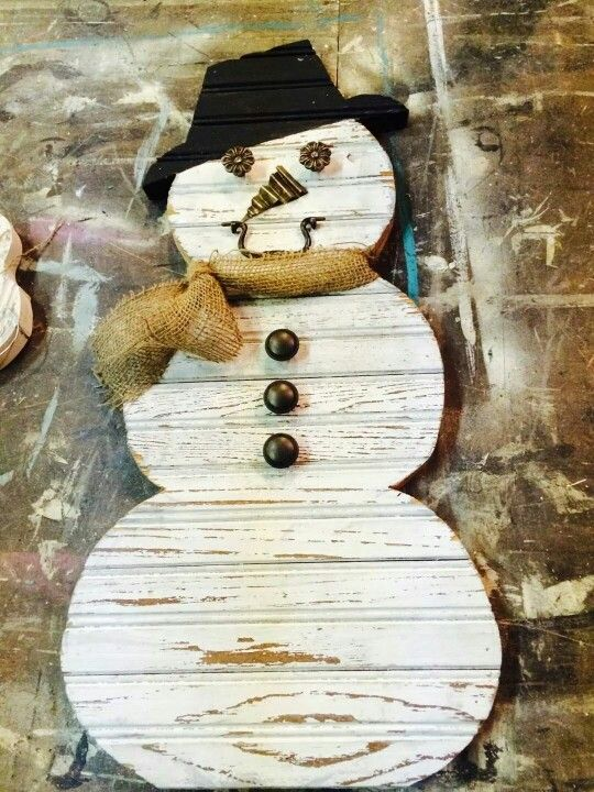Reclaimed Wood Snowman Reclaimed Barn Wood Wood