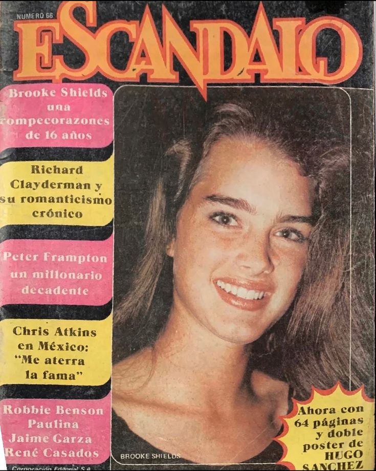 Brooke shields covers escandalo magazine mexico 1981