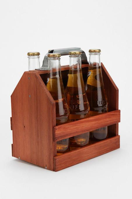 Take your beer snobbery to the next level... Wooden Six Pack Carrier
