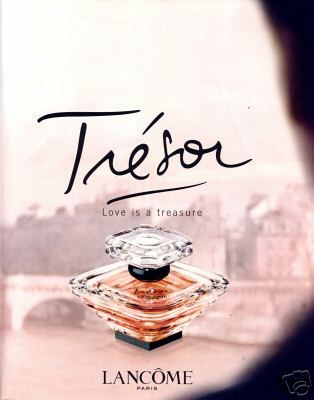Lancome - Trésor is for a woman who understands that time is precious and moments in this fast-paced world are to be treasured. Because love is a treasure, and Trésor evokes that feeling of everlasting love, it makes her as radiant and precious as the fragrance she wears. The elegance of rose, mugent, and lilac and the sparkle of peach and apricot blossom are just a few notes that define this luminous fragrance. Apricot Blossom, Rose, Lilac, Iris, Peach, Amber, Sandalwood, Musk, Vanilla.