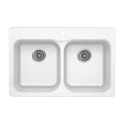 BLANCO SOP Vision 210 Silgranit Drop-in Double Bowl Sink