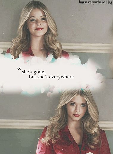 Alison Dilaurentis | dead girl  She is a haunting person You believe she is alive then dead then alive when will the mystery end at least I hope it don't !!!