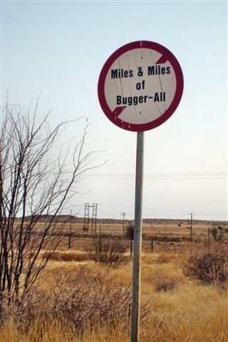 If you have ever been to Kimberley you will appreciate this sign!