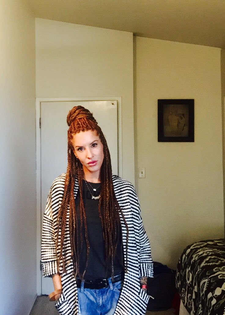 Box Braids Protective Style White Girl Box Braids Red