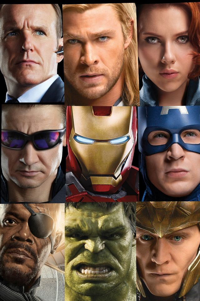 Nine people, six avengers, S.H.I.E.L.D.'s director and agent, and one big bad villein.