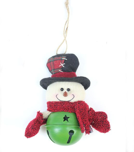 Jingle bell snowman ornament christmas crafts for Jingle bell christmas ornament crafts