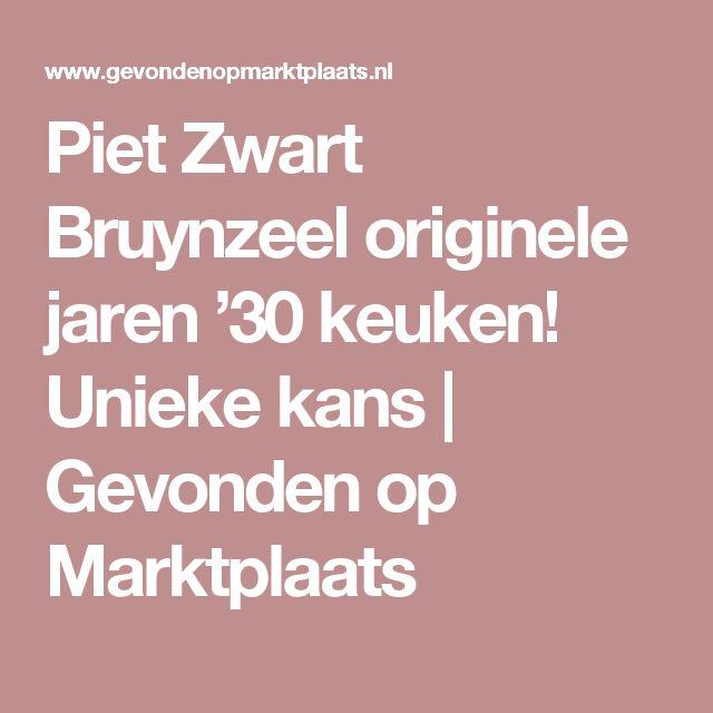 Piet Zwart Bruynzeel originele jaren '30 keuken! Unieke kans   Gevonden op Marktplaats