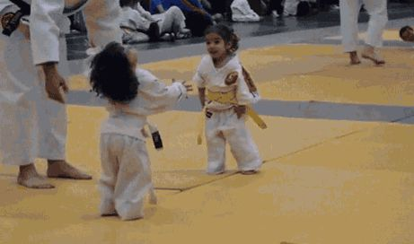 "how2beadad: "" The ""Kill 'em with Cuteness"" school of martial arts. """