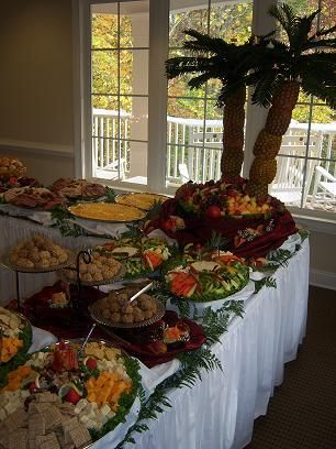 Table set up  Catering ideas in 2019  Luau party