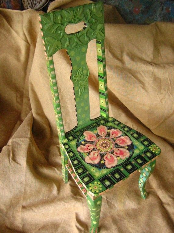 Another of  Pam Marwede's painted chairs