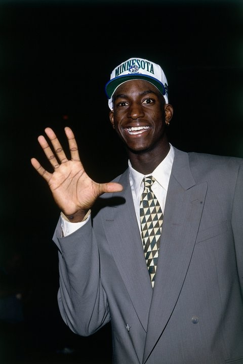 Kevin Garnett Minnesota Timberwolves Draft