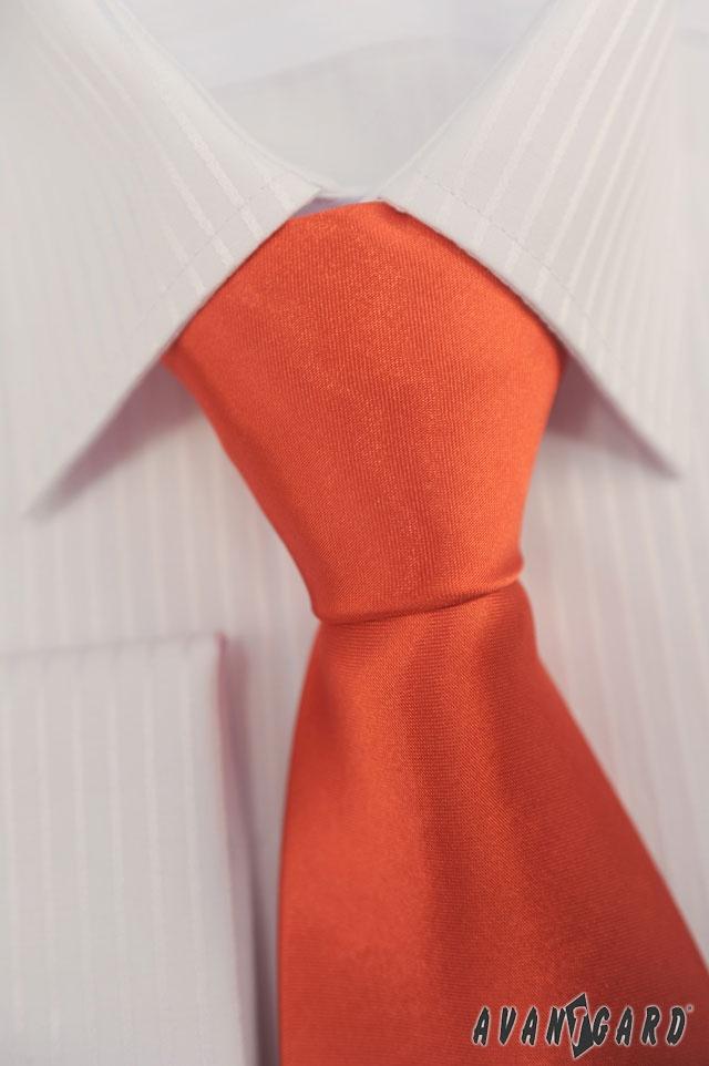 Bílá košile s jemným proužkem a kravata AVANTGARD
