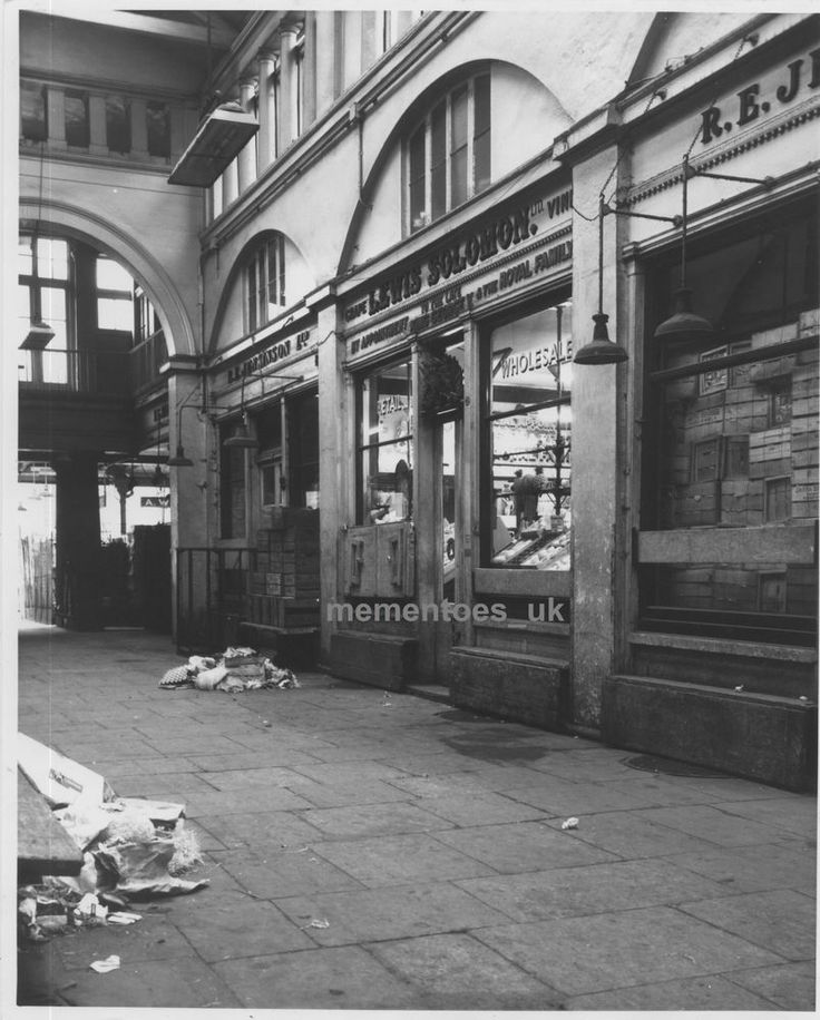 Covent Garden Market Fruit Veg Shops Central Avenue before Restoration  1970's